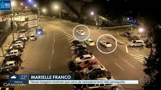 Novas imagens mostram carro de Marielle Franco sendo seguido por dois veículos no Centro do Rio