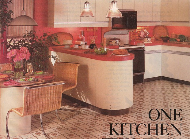 cozinha rosa (Foto:  vintage goodies)