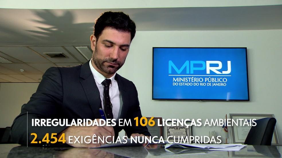 MPRJ descobre 106 Irregularidades de licenças ambientais. (Foto: Reprodução / Tv Globo)