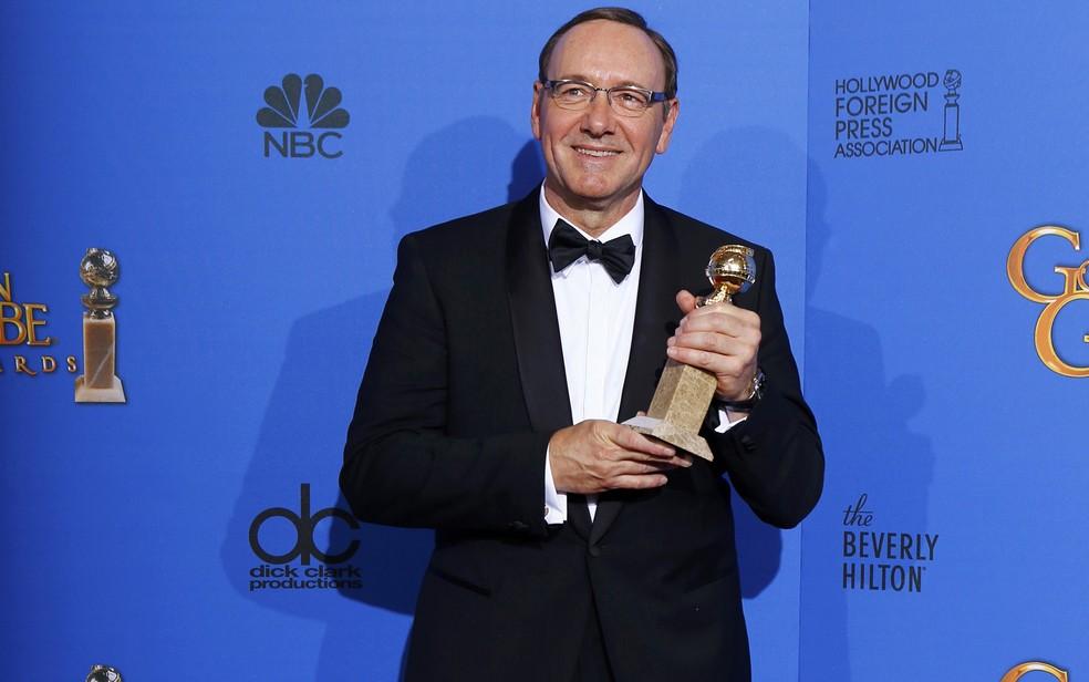 Kevin Spacey ganhou o Globo de Ouro de melhor ator de série dramática. (Foto:  REUTERS/Mike Blake)