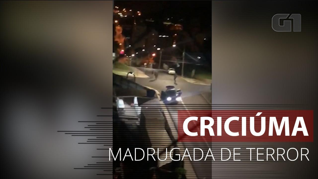 VÍDEO: Imagens mostram momento de tiroteio em Criciúma, SC