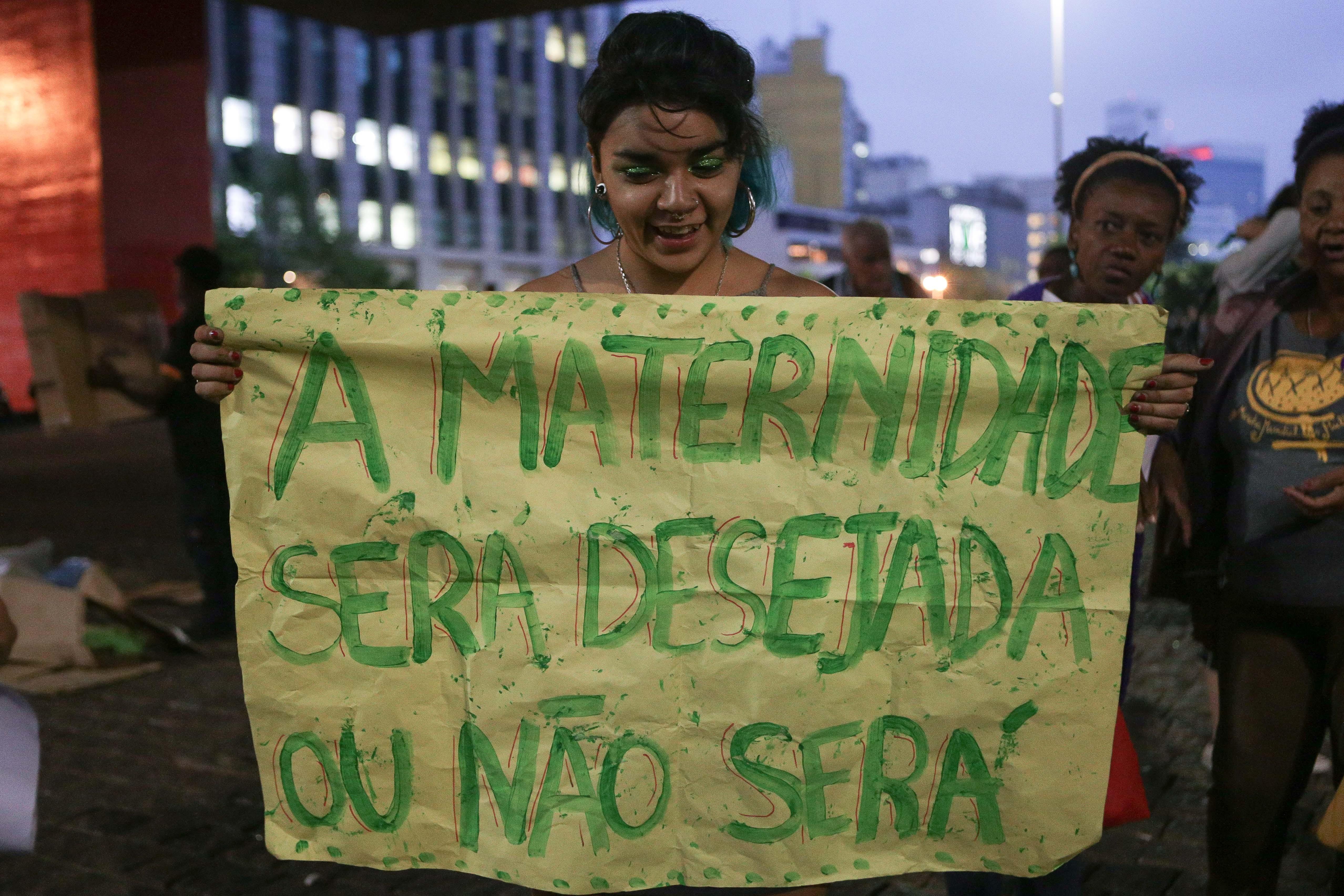 Manifestação pela legalização do aborto em São Paulo (Foto: Getty Images)