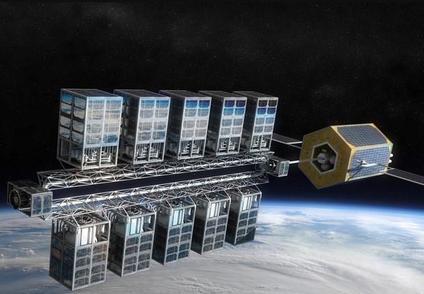 Projeto de estação espacial de combustível da Orbit Fab (Foto: Divulgação/Orbit Fab)