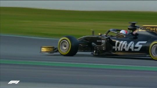 Neto de Emerson Fittipaldi, Pietro Fittipaldi dá as primeiras voltas com a norte-americana Haas
