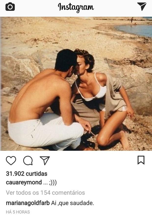 Mariana Goldfarb comenta em foto de Cauã Reymond (Foto: Reprodução / Instagram)