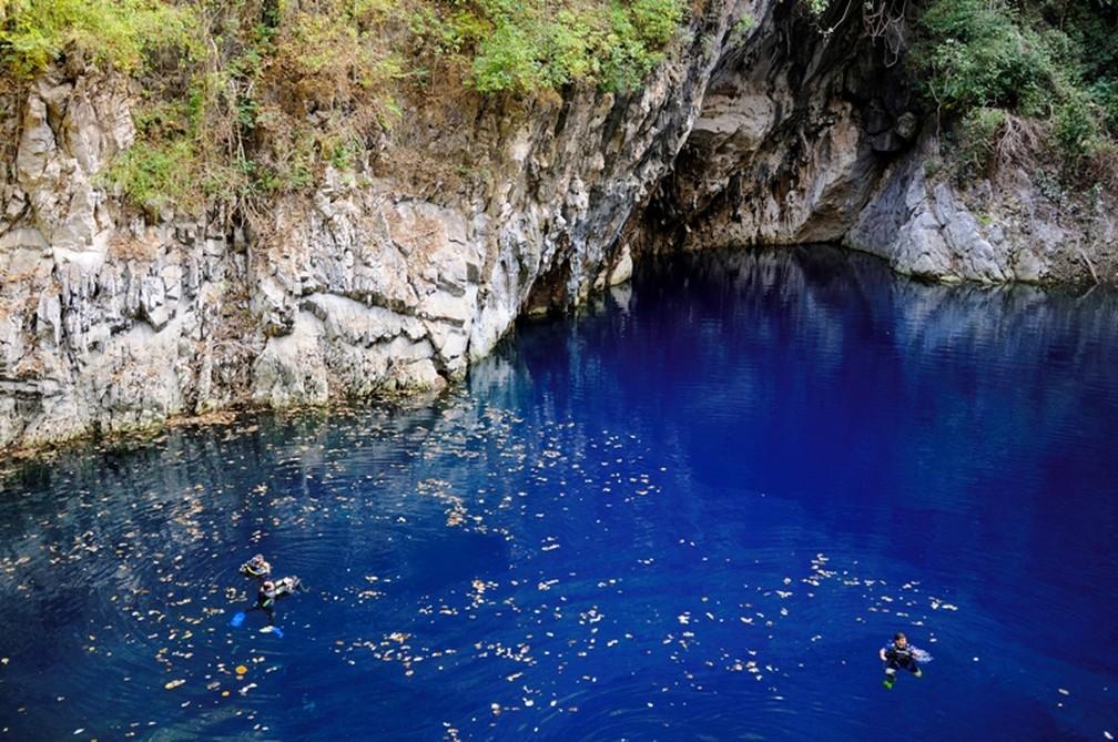 Dolina Água Milagrosa é uma lagoa liberada para mergulho e observação — Foto: Marcelo Krause/ Divulgação