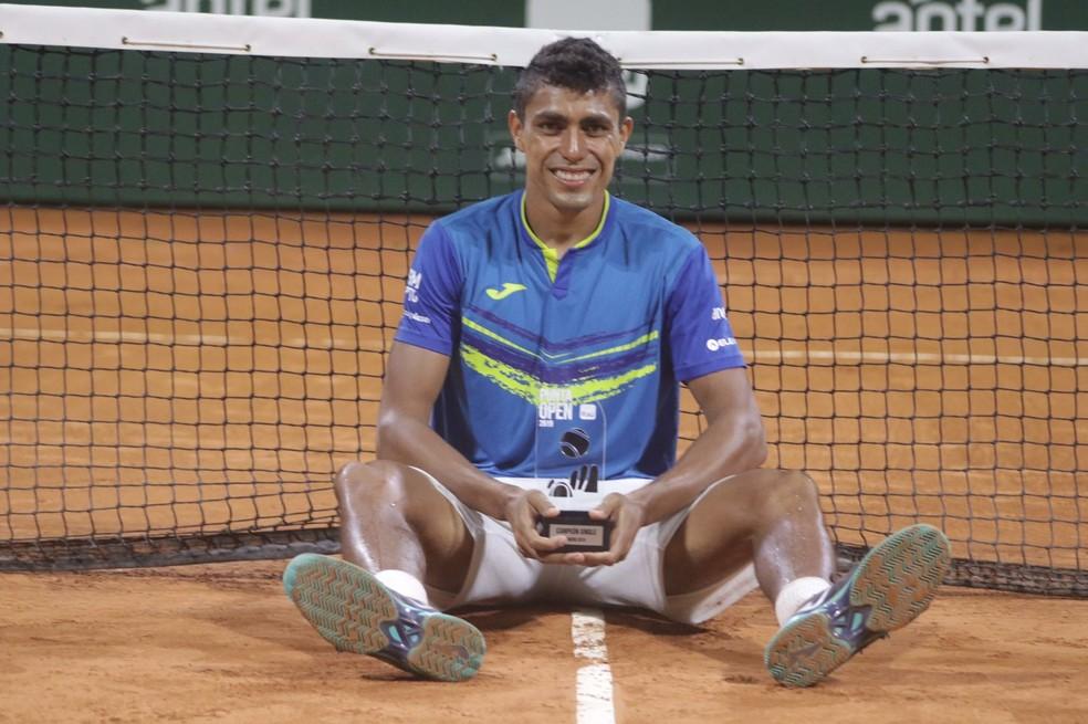 Thiago Monteiro, campeão do Challenger de Punta del Este — Foto: Divulgação / Punta Open