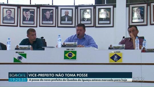 Vice-prefeito de Quedas do Iguaçu não comparece à sessão da Câmara para tomar posse da prefeitura