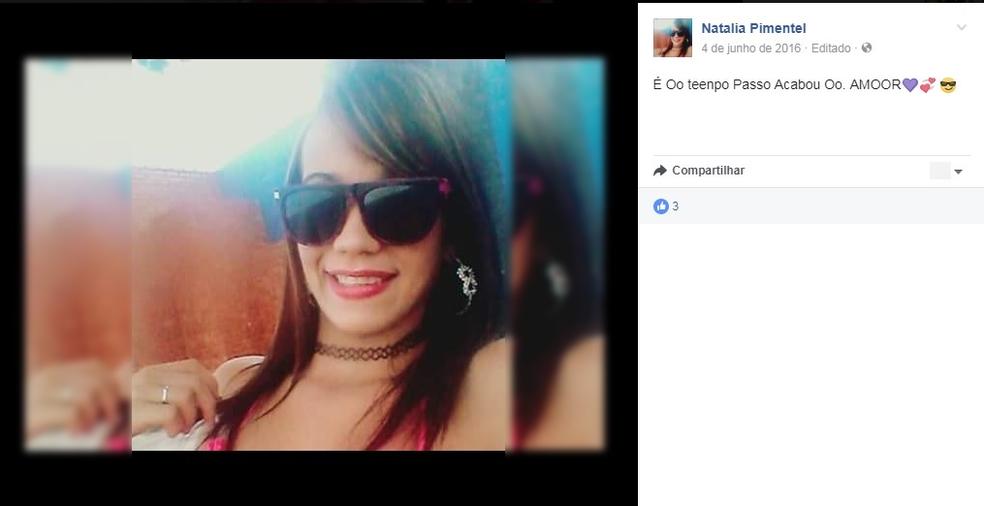 Natalia Pimentel, como era conhecida, foi atropelada no domingo (23) (Foto: Facebook/Reprodução)