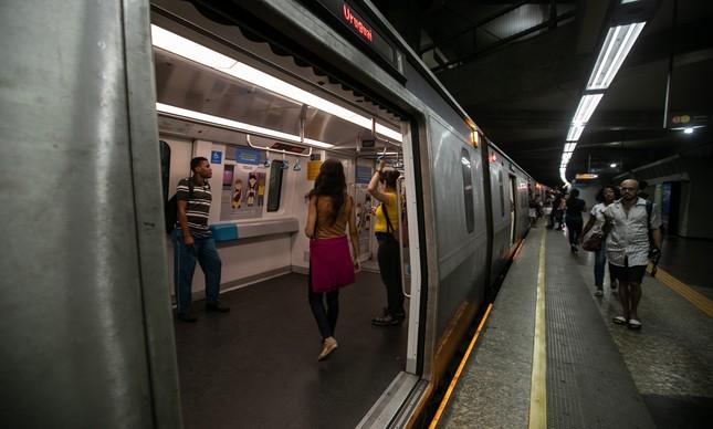 Metrô do Rio vazio em abril