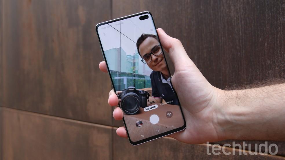 Câmera do Galaxy S10 Plus conta com Modo Instagram que tira foto na melhor qualidade e transfere para o Instagram Stories — Foto: Thássius Veloso / TechTudo