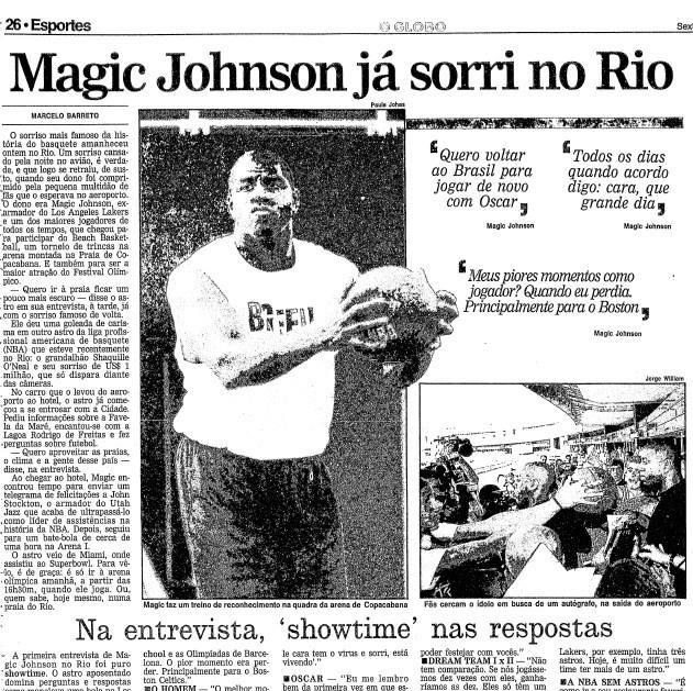 A entrevista de Magic Johnson no GLOBO