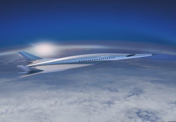 Imagem conceito do avião hipersônico que a Boeing apresentou (Foto: Divulgação/Boeing)