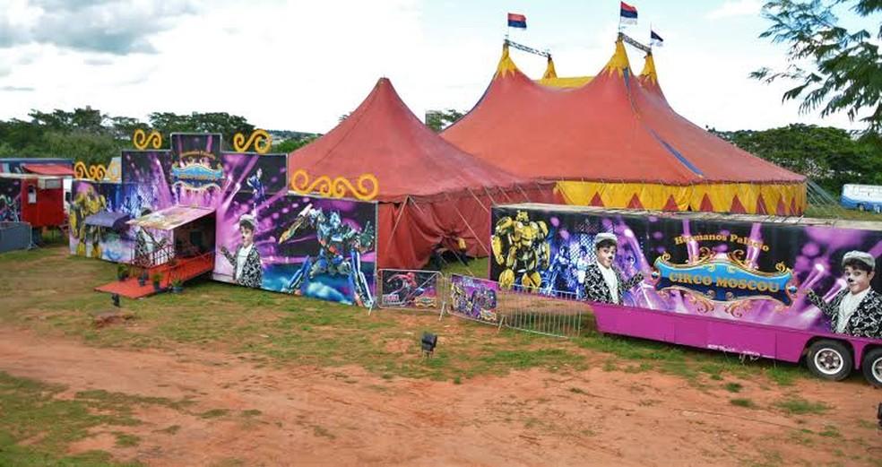 Circo não pode se apresentar em Bauru (SP) por conta da fase vermelha  — Foto: Circo Moscou/ Divulgação