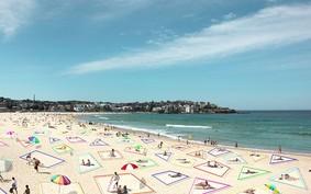 Arquitetos criam kit de distanciamento na praia