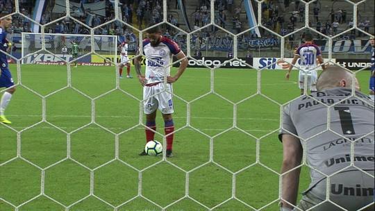 """Bahia quebra tabu contra o Grêmio, e Arthur Caíke diz: """"Tem que acontecer a primeira vez"""""""