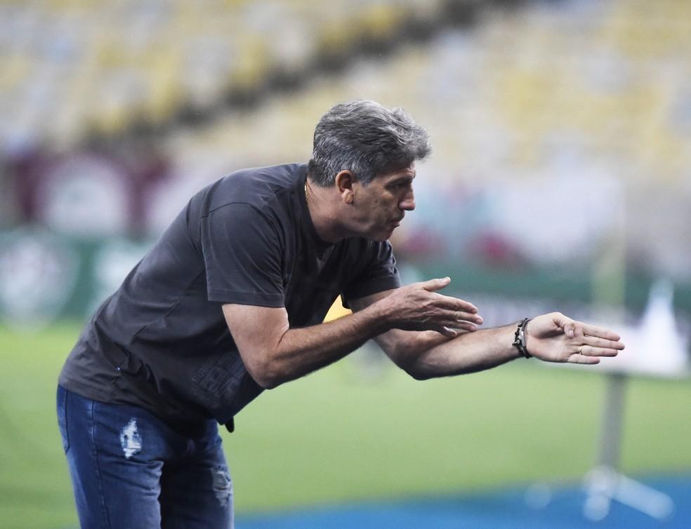 Renato montou estratégia muito bem executada pelo Grêmio — Foto: André Durão/ge