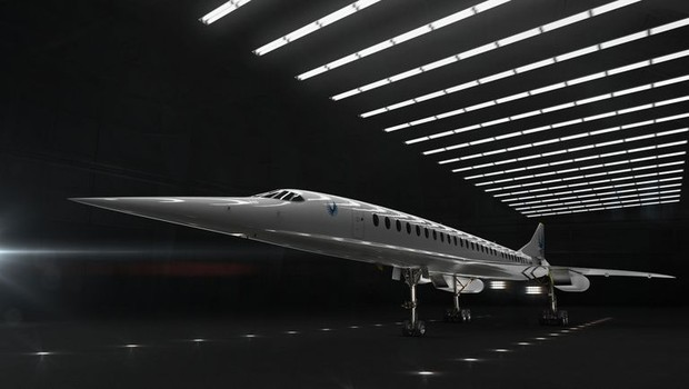 Projeto do avião supersônico que deve começar a voar em 2020  (Foto: Boom Supersonic/Divulgação)