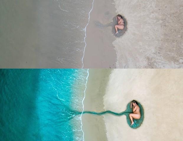 Foto original (à esquerda) e editada (à direita) (Foto: Wil Koetzler)