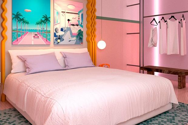 Uma das suítes kitsch do Paradiso Ibiza Art Hotel (Foto: divulgação)