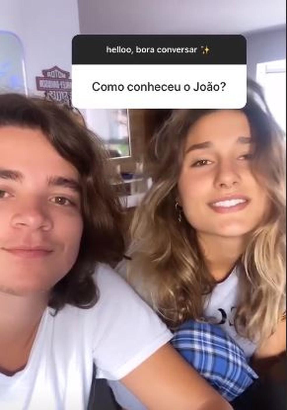 Sasha e João Figueiredo contam como se conheceram — Foto: Reprodução/Instagram
