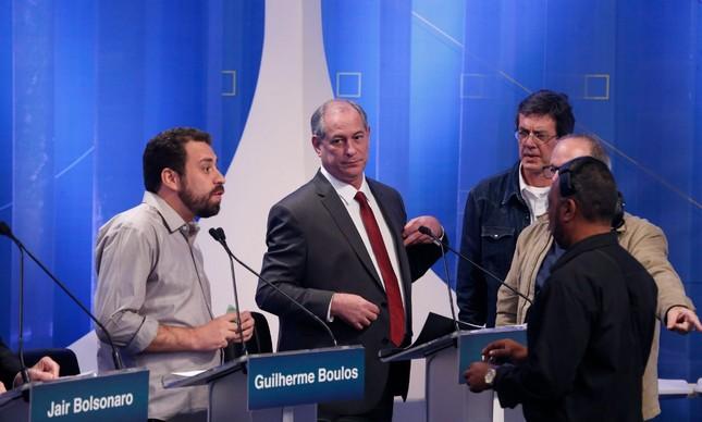 Guilherme Boulos e Ciro Gomes