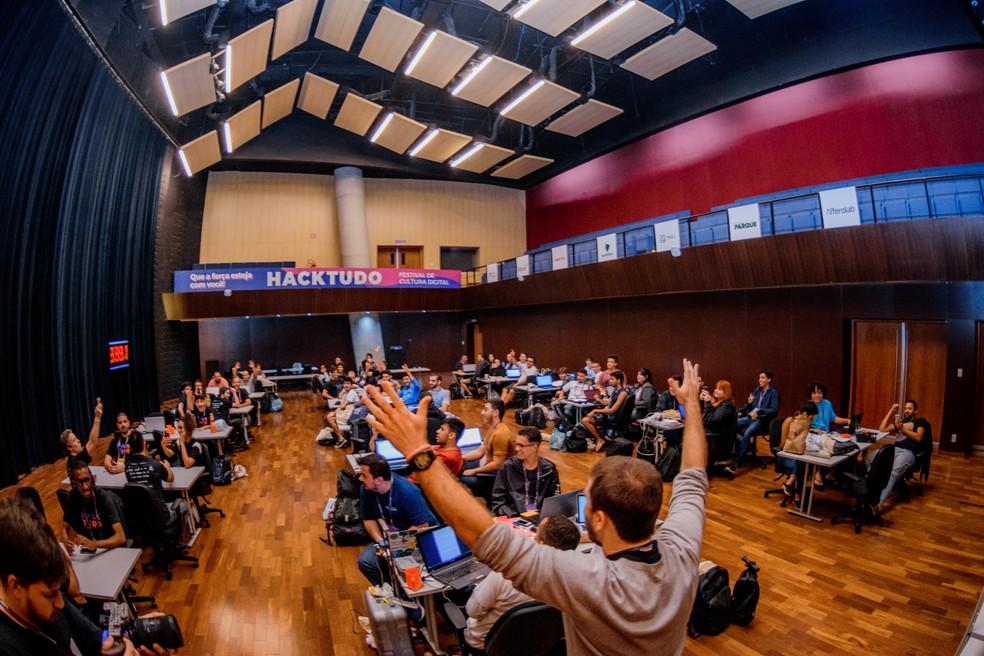 Abertura da Hackathon do festival Hacktudo 2019 — Foto: Divulgação/Hacktudo