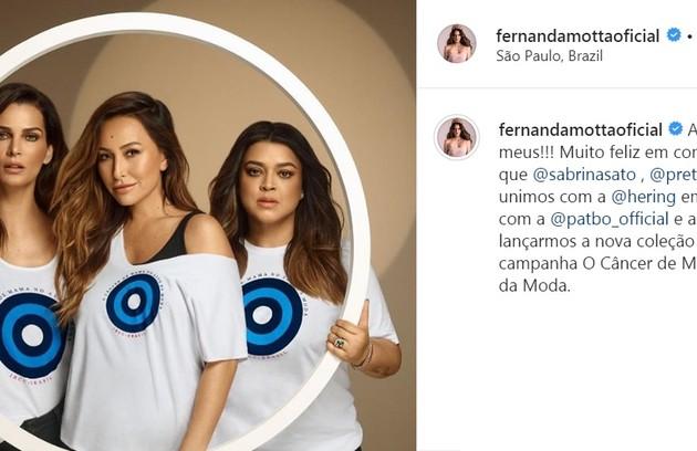 Há dois anos, modelo posou para campanha de conscientização contra o câncer (Foto: Reprodução/Instagram)