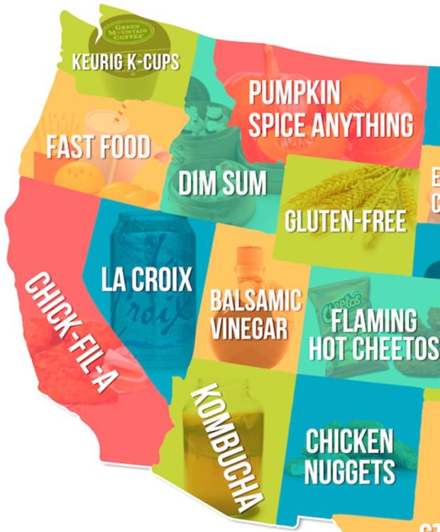 Alimentos com maior rejeição na costa leste americana (Foto: Hater)