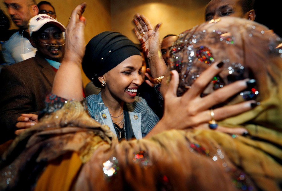 Ilhan Omar, deputada eleita do Partido Democrata nos aEUA — Foto: REUTERS/Eric Miller