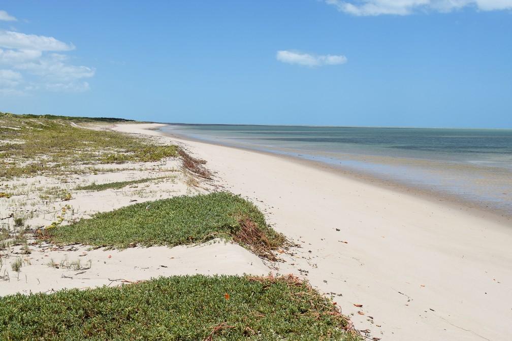 Em Guamaré, praias inexploradas também são deslumbrantes (Foto: Maxwell Almeida)