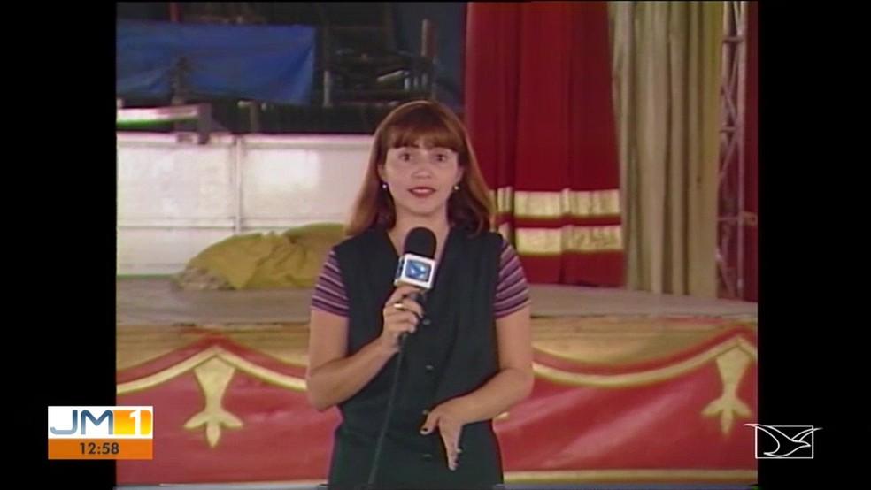 Názile Dualibe foi repórter da TV Mirante nos anos 90.  — Foto: Reprodução/ TV Mirante