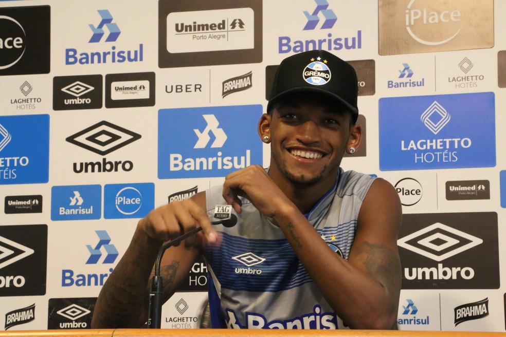 Jailson demonstra otimismo com desempenho defensivo do Grêmio (Foto: Beto Azambuja / GloboEsporte.com)