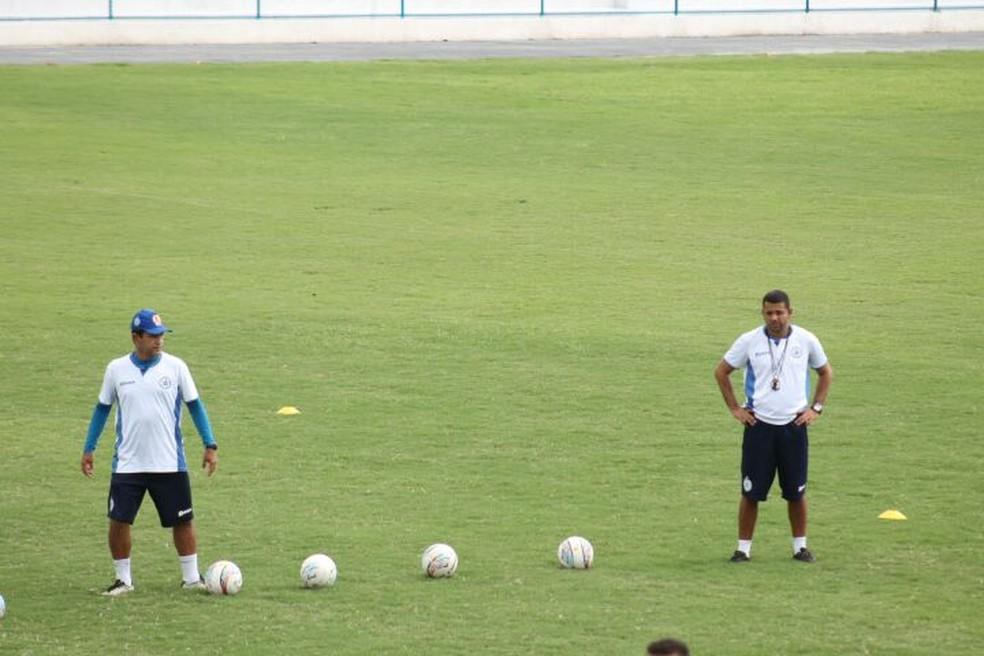 Igor Tenório e Sérgio China comandaram o Parnahyba no início da temporada (Foto: Jorge Alves/Parnahyba)