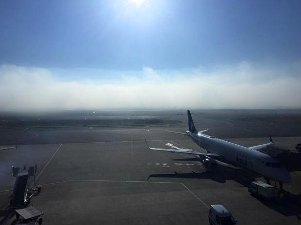 Aeroporto Afonso Pena ficou fechado durante o começo da manhã (Foto: Arquivo pessoal)