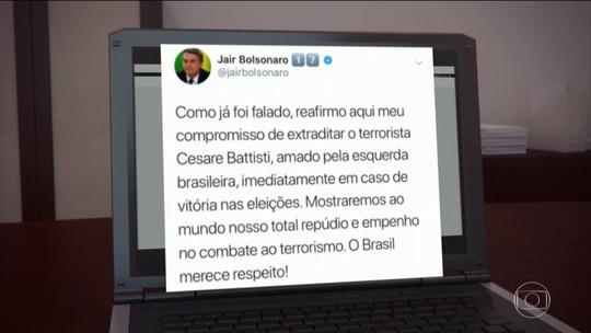 Bolsonaro diz que continuará a defender punição dura a assassinos se for eleito