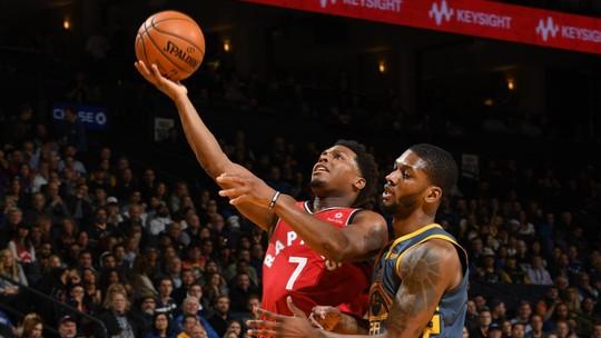 Donos da melhor campanha na temporada, Raptors bailam em Oakland e arrasam Warriors