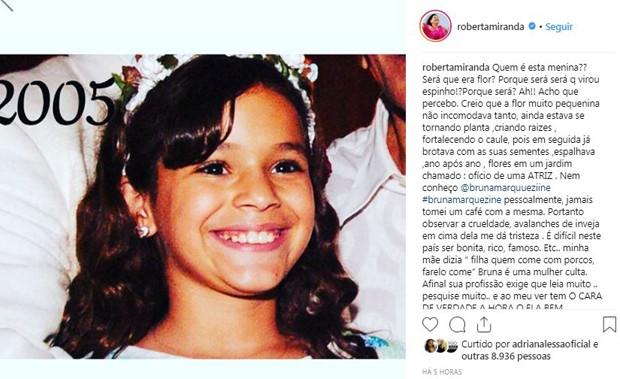 Roberta Miranda defende Bruna Marquezine  (Foto: Reprodução / Instagram e Ari Kaye)