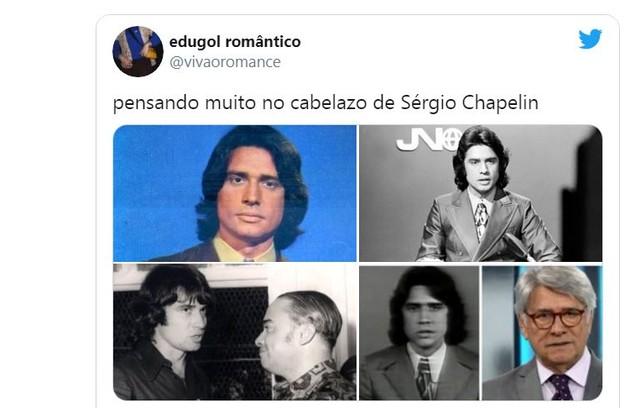 Houve quem relembrasse outros visuais de Sergio Chapelin (Foto: Reprodução)