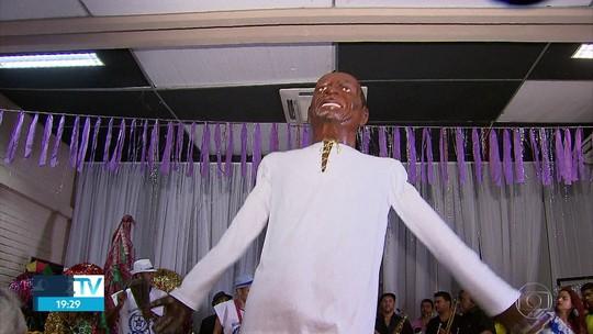 Naná Vasconcelos ganha homenagem em forma de boneco gigante no Recife
