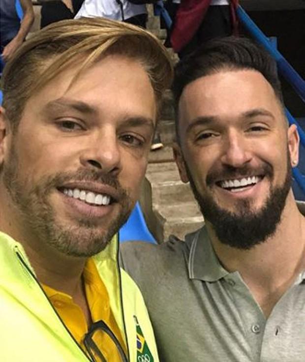 Bruno Chateaubriand e Diego Hypólito (Foto: Reprodução/Instagram)