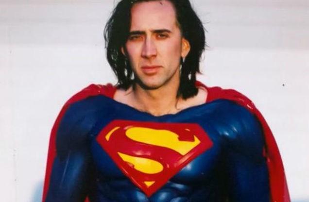 Nicolas Cage como Superman em filme perdido. Chegou, enfim, a vez dele? (Foto: reprodução)