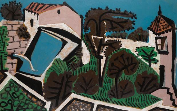 Espaço da Thomas Gibson Fine Art - Le Réservoir (1952), de Pablo Picasso, óleo sobre tela (Foto: Divulgação)