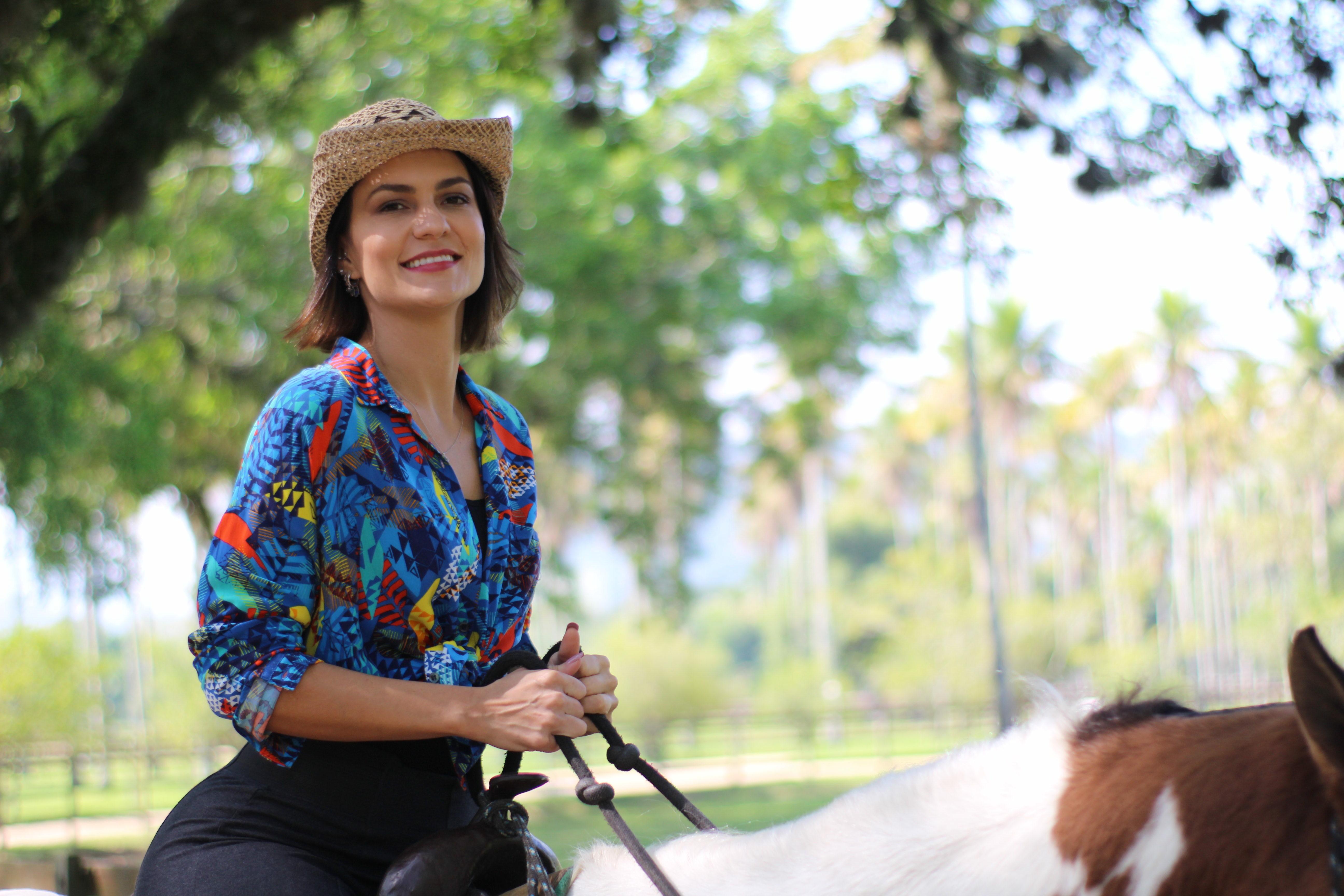 A atriz Paula Barbosa