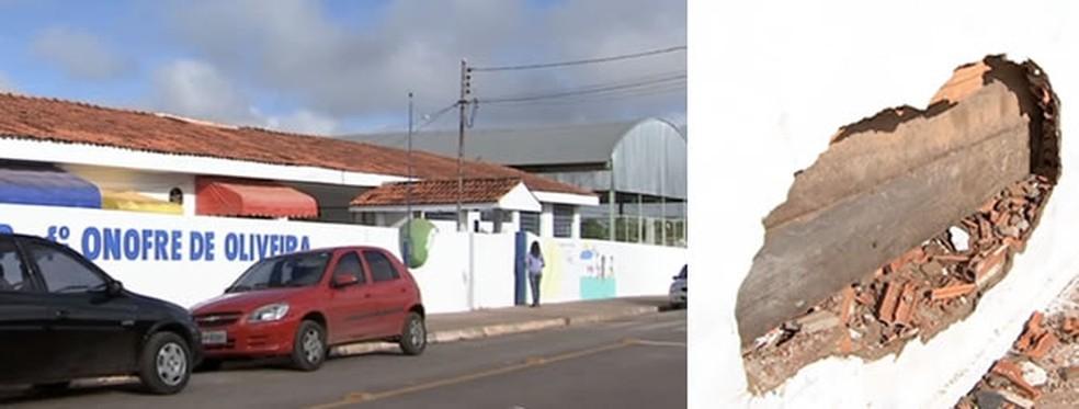 Motorista que atropelou adolescente foi detido depois de fugir e bater no muro de outra escola — Foto: Reprodução/TVCA