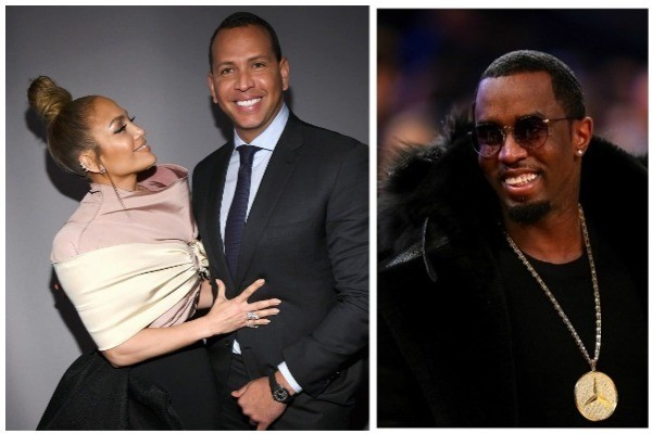 Jennifer Lopez e Alex Rodriguez / P. Diddy (Foto: Instagram / Getty Images)