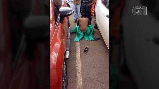 PM fardado é preso após agredir mulher e deixá-la nua no meio da rua, em Brasília