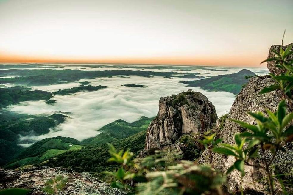 O Pico Agudo, em Sapopema — Foto: Prefeitura de Sapopema/Divulgação