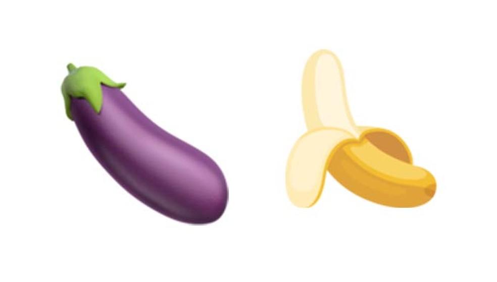 Os emojis de banana e berinjela ganharam um teor nada inocente (Foto: Reprodução/ Emojipedia)