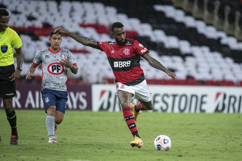 Gerson em partida pelo Flamengo — Foto: Alexandre Vidal / Flamengo